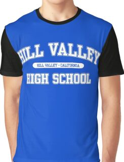 Hill Valley High School (White) Graphic T-Shirt
