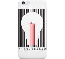 Stylish concept of idea bar code iPhone Case/Skin