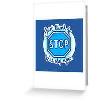 Undertale Blue Stop Signs Greeting Card