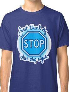 Undertale Blue Stop Signs Classic T-Shirt