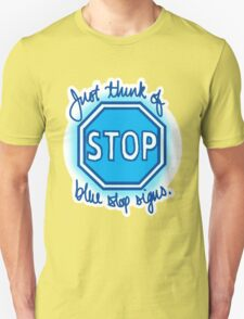 Undertale Blue Stop Signs T-Shirt