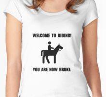 Horseback Riding Broke Women's Fitted Scoop T-Shirt