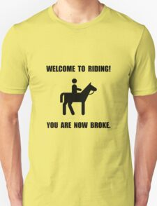 Horseback Riding Broke T-Shirt
