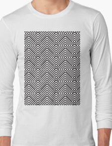 seamless patterns Black white Long Sleeve T-Shirt