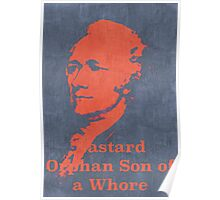 Hamilton on Broadway Poster