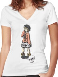 Punk Rock Girl Women's Fitted V-Neck T-Shirt