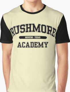 Rushmore Academy (Black) Graphic T-Shirt