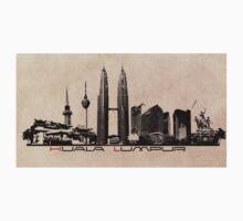 Kuala Lumpur skyline Kids Tee