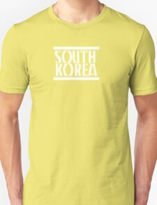 South Korea white text T-Shirt