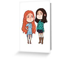 Teen Wolf Allison and Lydia Greeting Card
