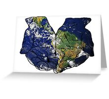The Earth in Our Hands Greeting Card