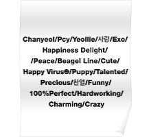 20 Things I like about you Chanyeol Exo Poster