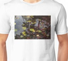 Fall Pond Reflections - a Story of Waterlilies and Japanese Maple Trees - Take One Unisex T-Shirt