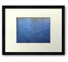 Ripples and Reeds Framed Print