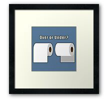 Over or Under? Framed Print