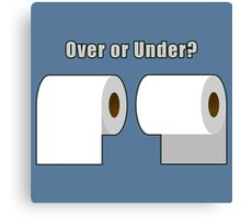 Over or Under? Canvas Print