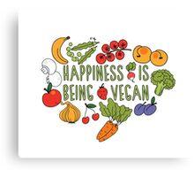 Vegan Happiness Fruit & Veggies Canvas Print