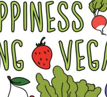 Vegan Happiness Fruit & Veggies Sticker