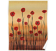Landscape With Red Poppies Poster