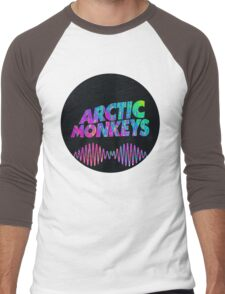 Arctic Monkeys - Logo (Psychedelic / Black)  Men's Baseball ¾ T-Shirt