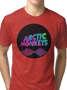 Arctic Monkeys - Logo (Psychedelic / Black)  Tri-blend T-Shirt