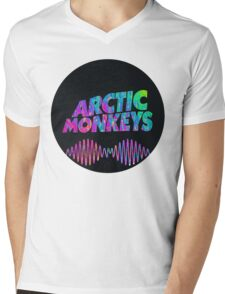 Arctic Monkeys - Logo (Psychedelic / Black)  Mens V-Neck T-Shirt