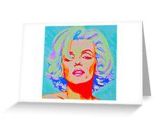 Pop Art Bombshell Greeting Card