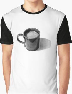 Coffee Time: Mug with Coffee: Pencil Drawing Graphic T-Shirt