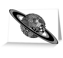 Patterned planet Greeting Card