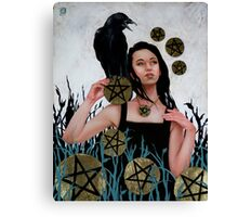 Nine of Pentacles Canvas Print
