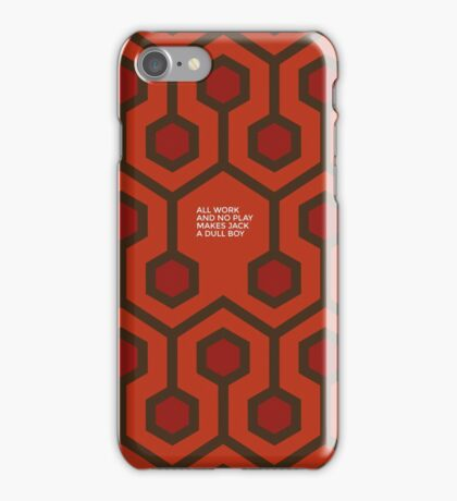 All work and no play makes Jake a dull boy iPhone Case/Skin
