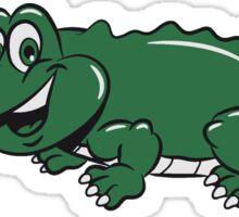 Crocodile sweet loving comic child Sticker