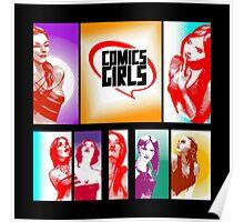Comics Girls Poster
