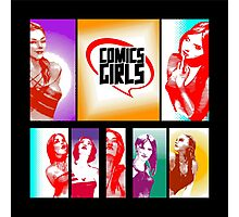 Comics Girls Photographic Print
