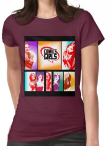 Comics Girls Womens Fitted T-Shirt