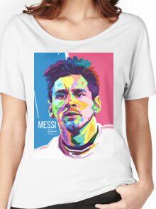 Lionel Messi in WPAP Pop Art Women's Relaxed Fit T-Shirt