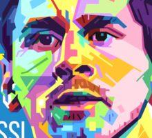 Lionel Messi in WPAP Pop Art Sticker