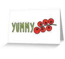 Yummy Tomatoes Greeting Card