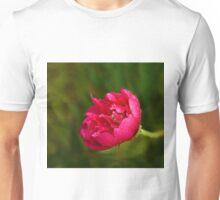 Pink Flower in Rain Unisex T-Shirt