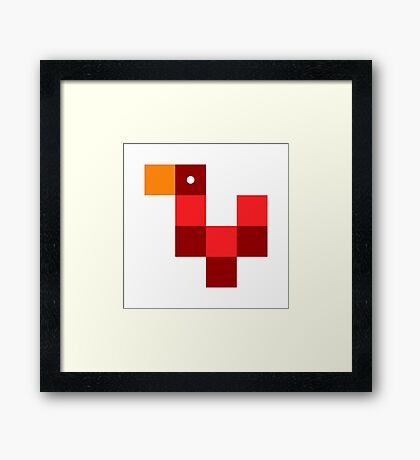 Pixel by pixel – Rooster Framed Print