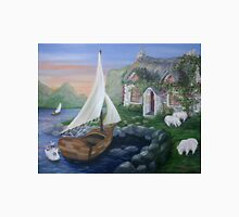 Country Cottage Sail Boat T-Shirt
