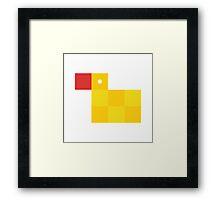 Pixel by pixel – Rubber duck Framed Print