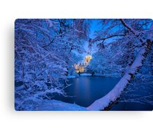 Winter Castle Canvas Print