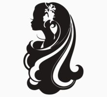 Girl, hair, barrette, silhouette, image, actress, dancer, model, Princess Kids Tee