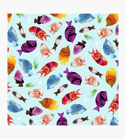 Fish shaped Flowers Photographic Print