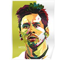 Lionel Messi in WPAP Green Poster