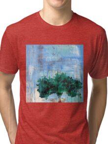 Apple Tree In Rain Tri-blend T-Shirt