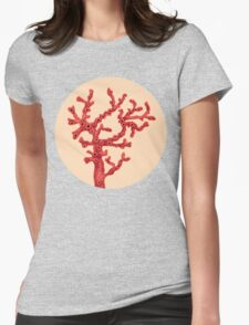 Red coral Womens Fitted T-Shirt