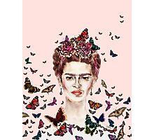 Frida Kahlo Flowers Butterflies Photographic Print