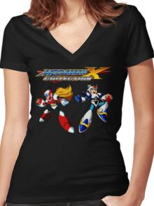 Megaman X Collection Women's Fitted V-Neck T-Shirt